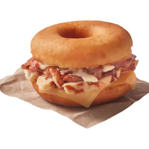 Gourmet Dunkin sándwich pollo BBQ
