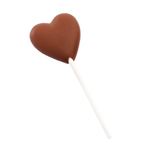 Lizak serce z czekolady mlecznej  13g