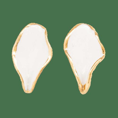 Orecchini Foglia - bianchi
