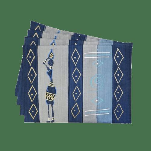 Due placemat - masai blu