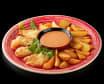 Морський окунь в темпурі з картоплею (150/100/50г)