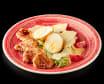 Салат  Цезар з курчам в соусі теріякі і кокосової заправкою (240г)