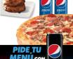 Pizza Mediana + 2 bebidas + cookies