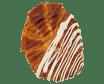 Croissant planxat xocolata blanca