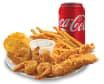 Combo Mar y Tierra con cajún crispy Shrimp