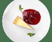 Чізкейк класичний з ягідним соусом (125/60г)