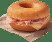 Gourmet Dunkin sándwich serrano y queso