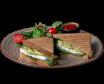 Tost wege z awokado i serem camembert w zestawie z sałatką 250g