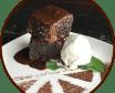 Шоколадний брауні з ванільним морозивом (190/50г)