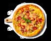 Піца «Чотири м'яса» 500г