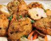 Achari chicken tikka + meta chutney