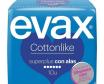 Evax compresa cotton like súper plus alas