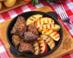 Печінка смажена з яблуками та картоплею (230г)