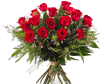 Ramo De 12 Rosas Rojas De Tallo Largo