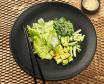 Хіяші Вакаме з авокадо, огірком та горіховим соусом (120/30г)