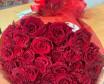 372 - Bouquet Fleurs Rouges