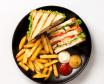 Клаб сендвіч з картоплею фрі