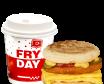 MiniDejun Egg Pui Burger + Cafea