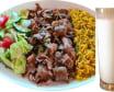 Nr 17-Zestaw kebab wołowo-barani danie + ayran