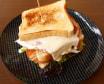 Sándwich vegetal con pechuga y crema de queso