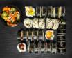 Set nr 2. 28 kawałków sushi i japanes cucumber