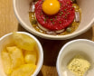 Steak Tartar con Yema de Huevo curada