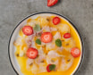 Севіче з дорадо з соусом маракуя, полуниця, халапеньйо