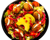 Falafel bowl salata si avocado