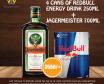 Jägermeister 700ml + 4 cans Red bull 250ml