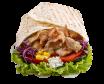 Chicken kebab tortilja – velika