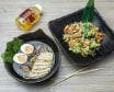 Суп з куркою і Смажений рис з куркою,Лимонад Манго (850 г)