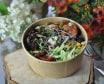 ზღვის პროდუქტების სალათი ველური ბრინჯით + ბანი