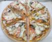 Пицца с колбасками халяль и грибами (400 гр.)