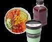 Menú ensalada salmón & avocado+ zumo 500ml