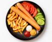 Картопля фрі з двома сосисками гриль (420г)