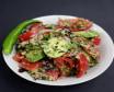 ქართული კიტრი-პომიდვრის სალათი ნიგვზით