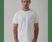 Camiseta Hombre Cuello Redondo Pima 30/1 100% Algodón Blanco