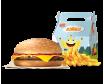 Hamburguesa con queso + muñeco