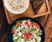 Крем-суп +салат