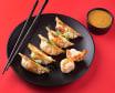 Гьодза з креветками та горіховим соусом (100/50г)
