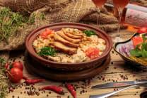Фатте зі смаженою куркою  (400/100г)