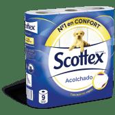 SCOTTEX Papel Higiénico Acolchoado 9 un
