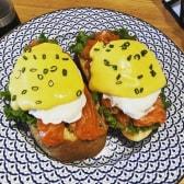 Salmon & Poached Eggs on Toast