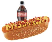 Combo Hot Dog Americano: Hot Dog Americano + Gaseosa 300Ml