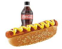 Combo Hot Dog Tradicional:  Hot Dog Tradicional + Gaseosa 300 Ml