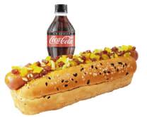 Combo Hot Dog Hawaiano: Hot Dog Hawaiano + Gaseosa 300 Ml