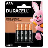 Duracell AAA 1.5v x4