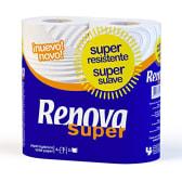 Papel Hig.Super 4Rlx16 Renova Blanco