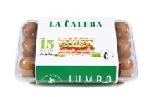 Huevos Pardos La Calera Jumbo 15Und
