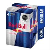 Red Bull Bebida Energizante Regular 250ml - 4Pack